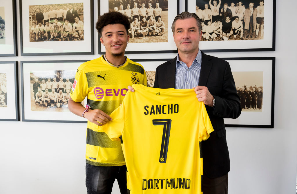 Arsenal and Manchester United target Jadon Sancho leaves Manchester City for Borussia Dortmund