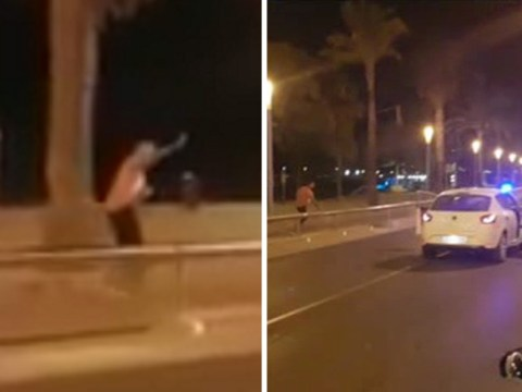 Outnumbered hero police officer shot four terrorists dead