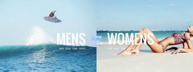 Billabong ran these two surf adverts and people got angry