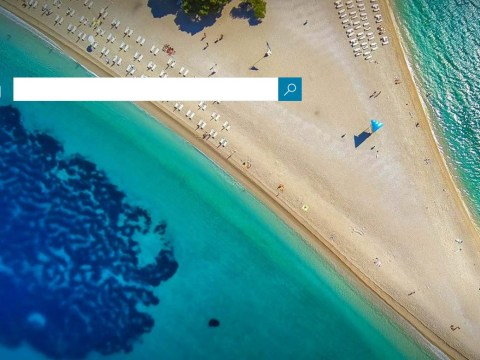 Can you spot the NSFW sand sculpture on Bing's homepage?