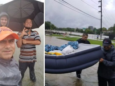 Hundreds of Muslims offer food, water and shelter to people caught up in storm Harvey