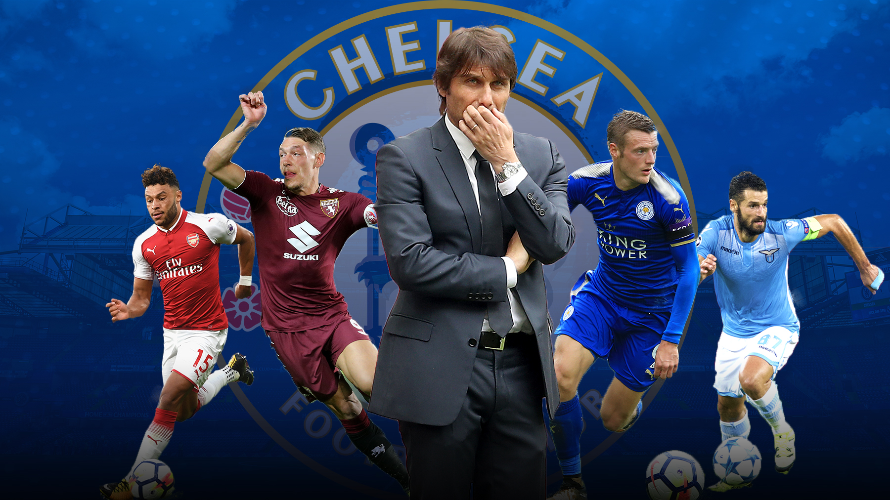 Chelsea's transfer targets – including Vardy, Belotti, Ox and Candreva – and the likelihood of a deal