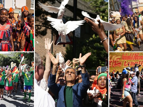 Notting Hill Carnival opens with white doves released for Grenfell