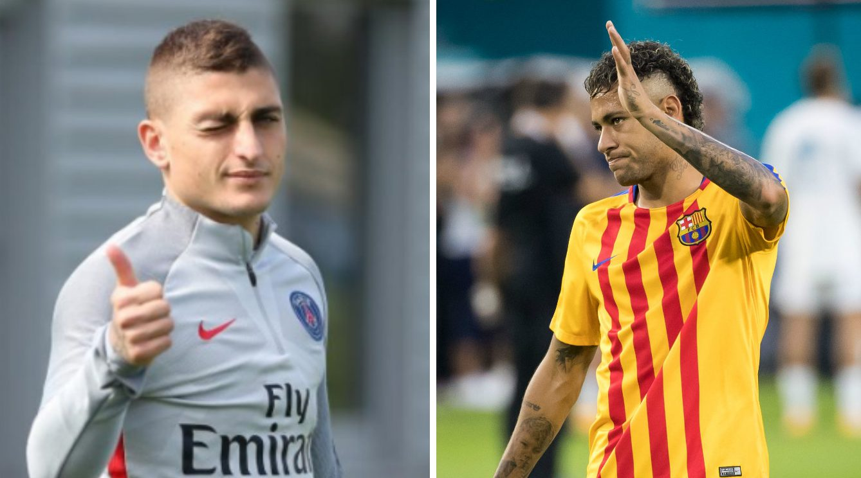 PSG troll Barcelona over Neymar transfer with Marco Verratti tweet