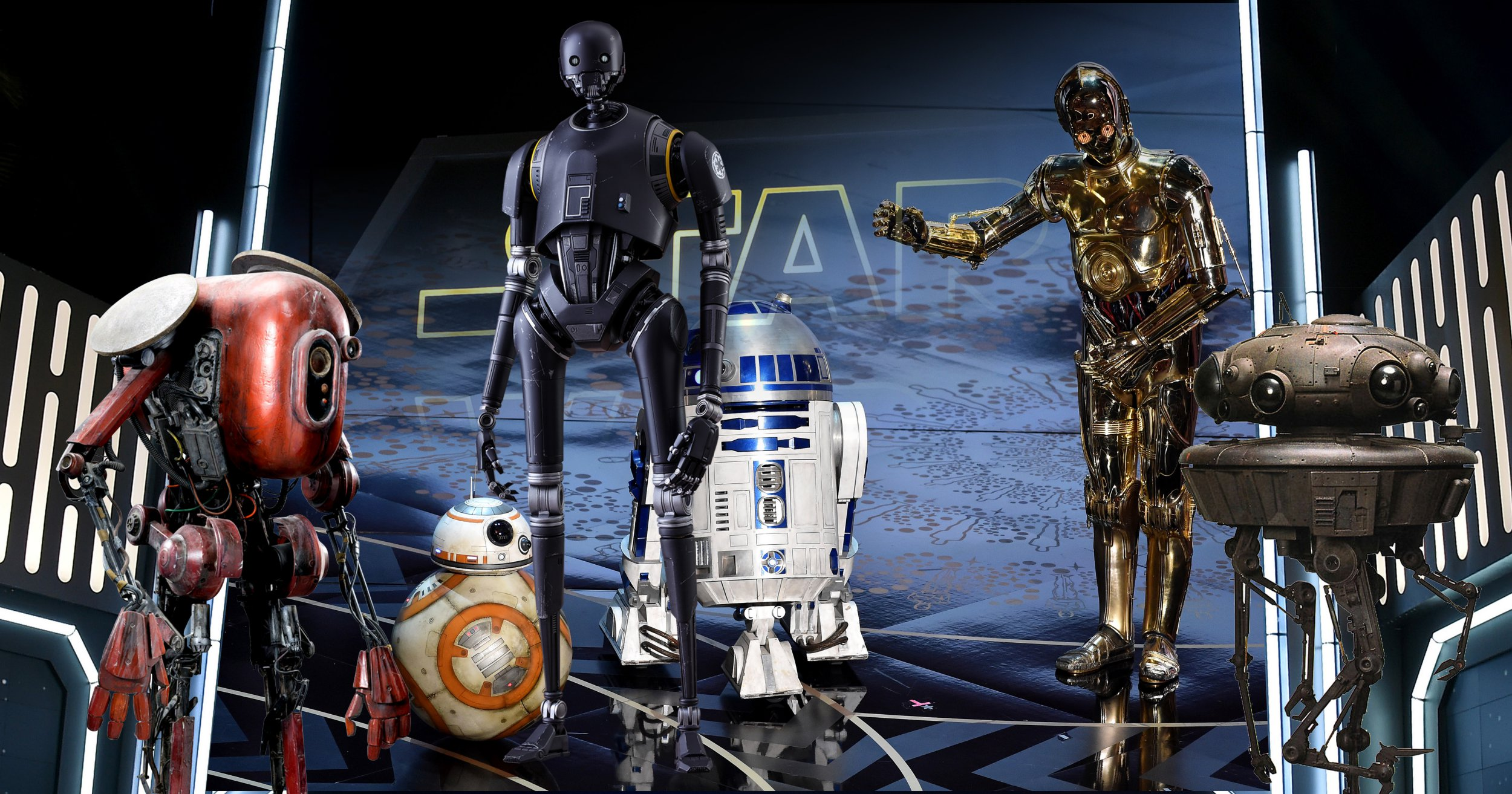 What kind of droids will we be seeing in the new Star Wars Han Solo film?