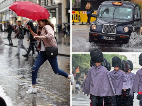 Torrential downpour batters Britain with month's worth of rain in a day