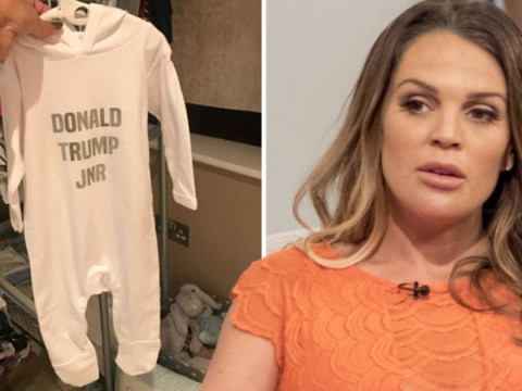 Pregnant Danielle Lloyd slammed for sharing 'cute' picture of a Donald Trump Jr baby grow