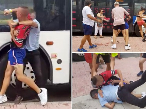 Couple filmed attacking party bus driver in Ibiza