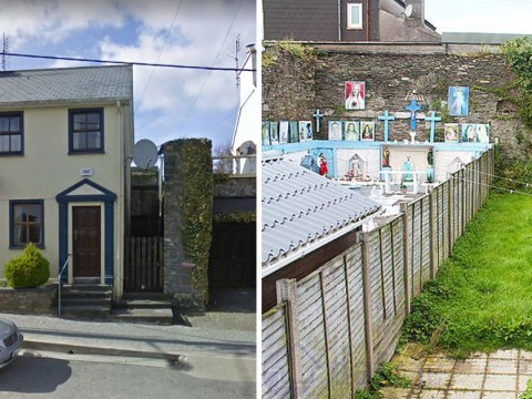 Neighbour's creepy back garden steals the show in house ad