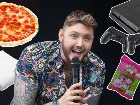 Egyptian cotton towels and gaming chairs no less than 50 inches wide: James Arthur's V Festival rider is pretty impressive
