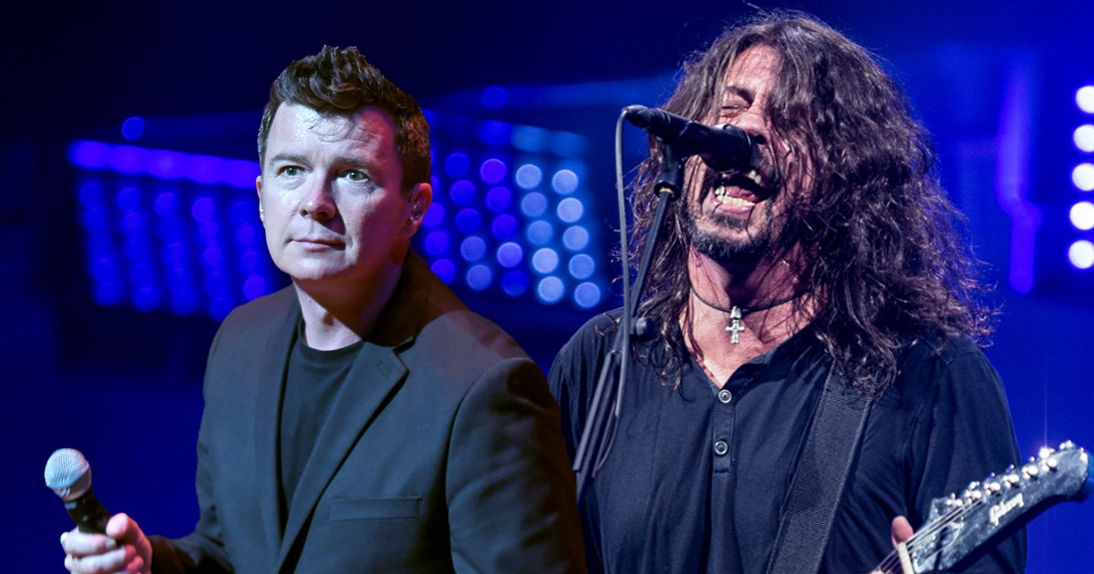 Watch Foo Fighters team up with Rick Astley to form the most unlikely supergroup in rock'n'roll history