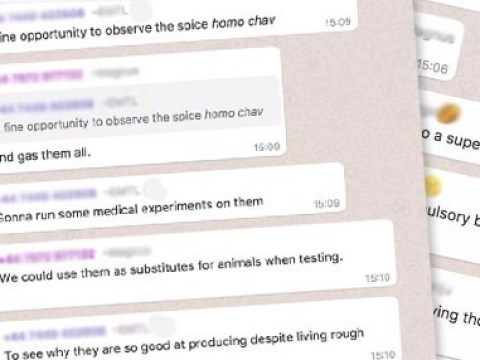 Horrific Tory Whatsapp group where they discuss 'gassing chavs'