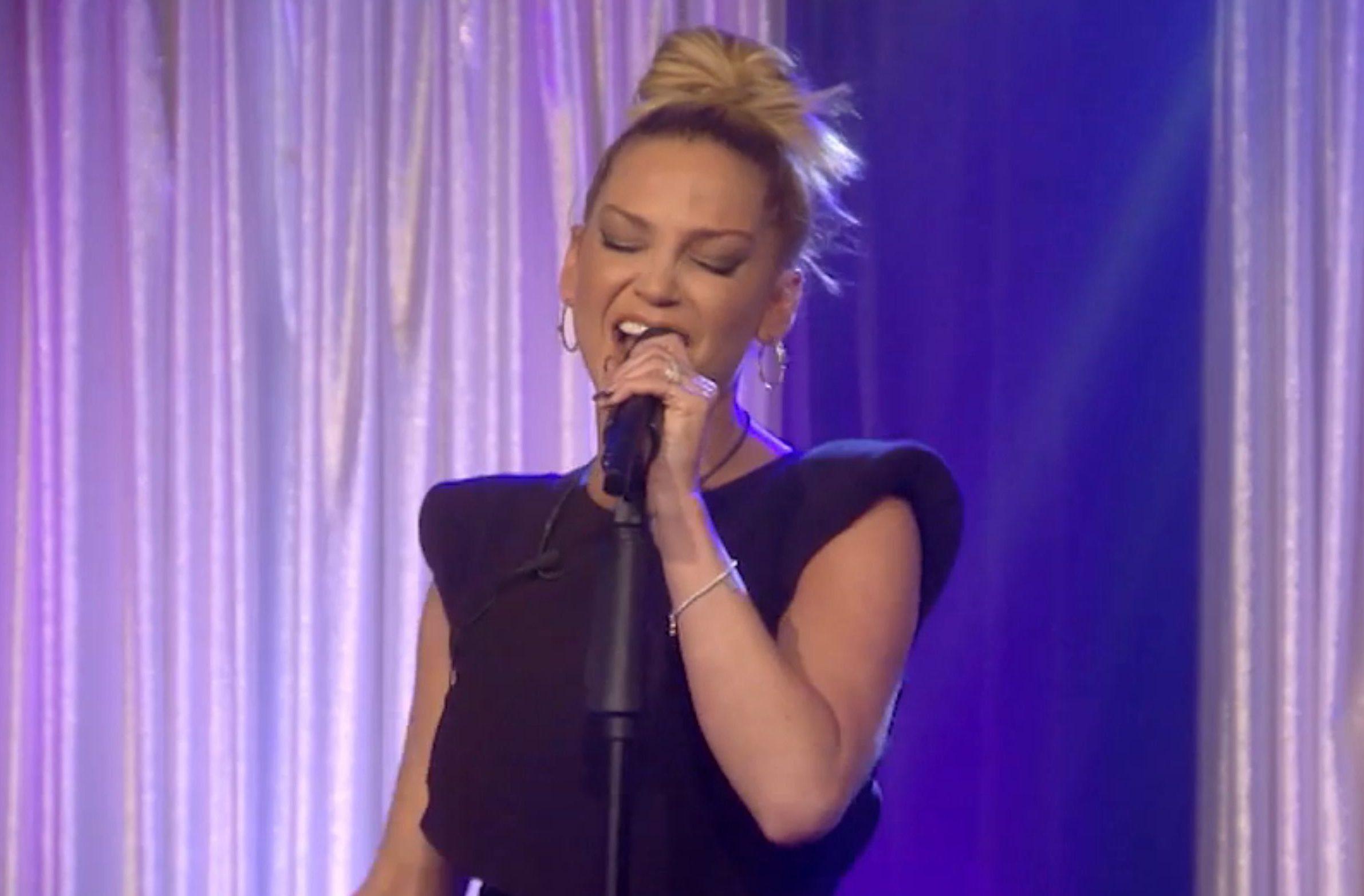 Sarah Harding had to hold up lyrics to sing Girls Aloud song on CBB