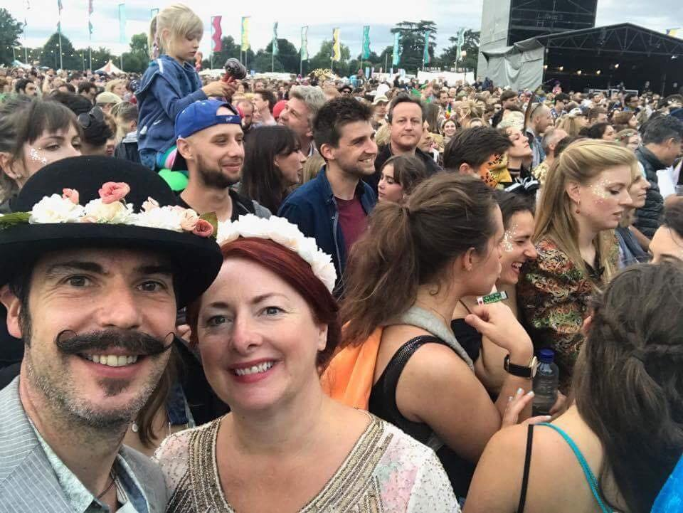 Can you spot the famous face in the crowd at the Wilderness Festival?