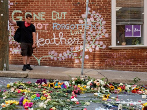 Charlottesville street where Heather Heyer was killed has been turned into beautiful memorial