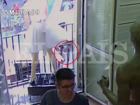 CCTV shows toddler's miraculous escape from Barcelona van attack