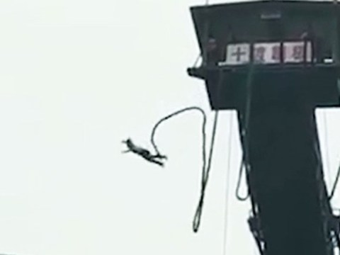 Teenager plunges into river after cord snaps during 160ft bungee jump