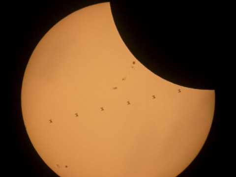 Space station pulls off epic photobomb of the total eclipse