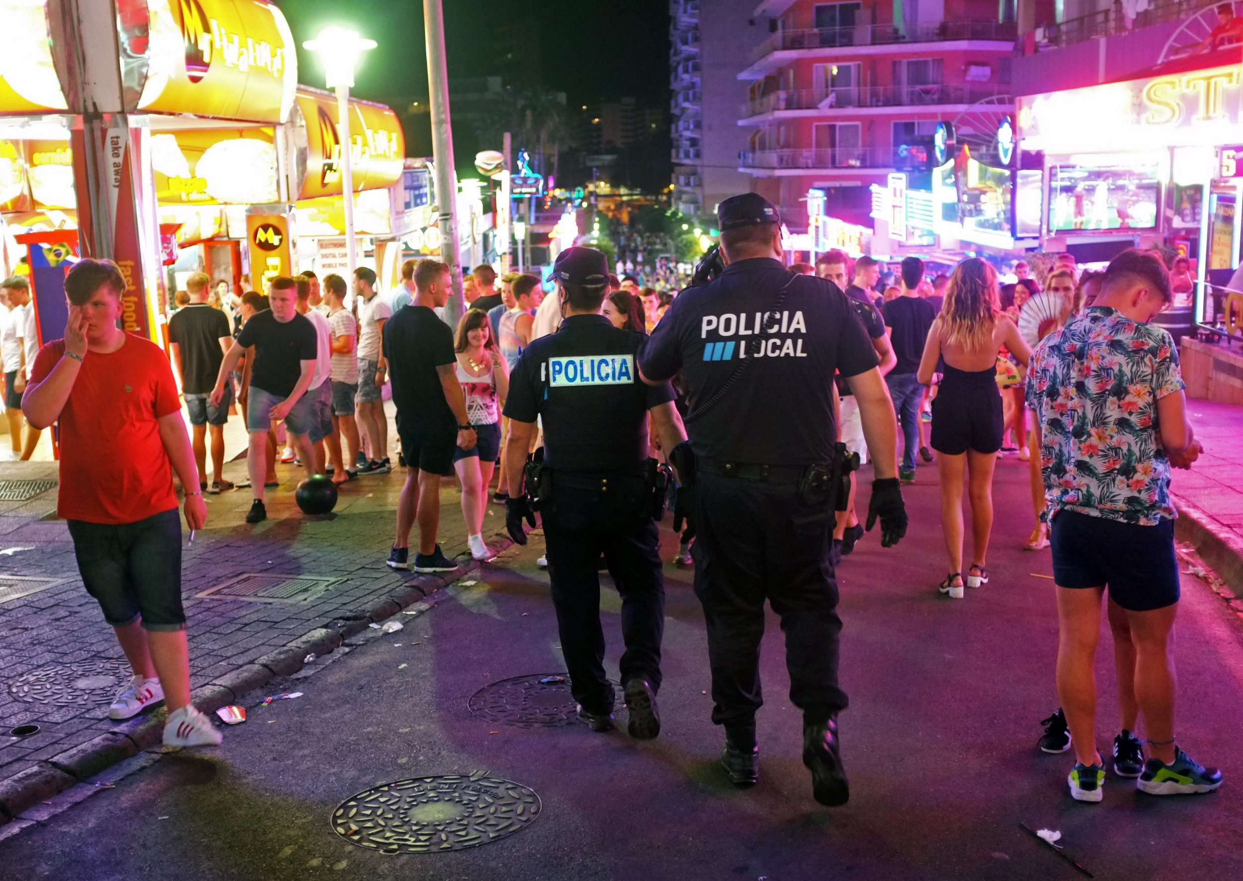 British teenager 'gang-raped by three men on beach in Magaluf'