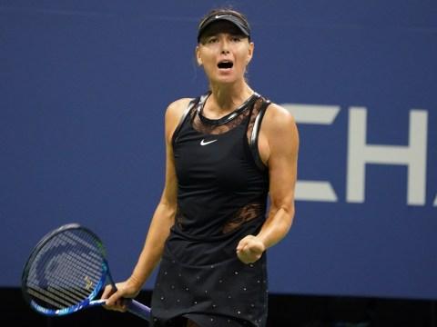 Maria Sharapova battles past world No. 2 Simona Halep on Grand Slam return at the US Open