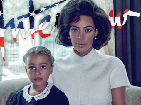 Kim Kardashian admits she's 'very conscious' of raising mixed race children and reveals how North loves her 'curly hair'