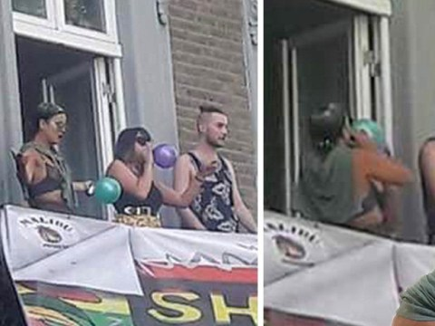 Lily Allen spotted 'inhaling laughing gas balloon' at Notting Hill carnival