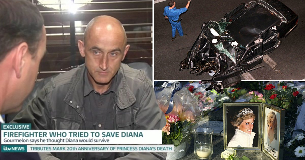 firefighter reveals diana s last words after crash in paris tunnel metro news firefighter reveals diana s last words