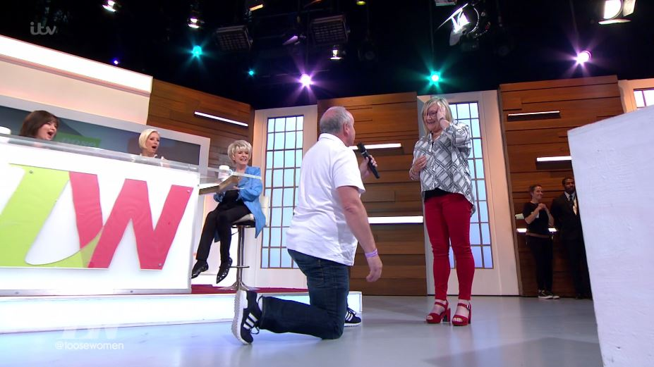 Christine Lampard halts Loose Women as man proposes during the ad break