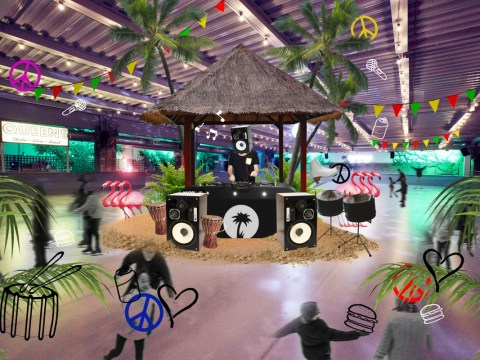 We have found your Notting Hill Carnival after-party and it has a tropical island and ice rink