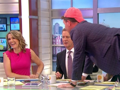 Richard Arnold stuns Jeremy Kyle as he crawls across the GMB desk after Magic Mike 'audition'