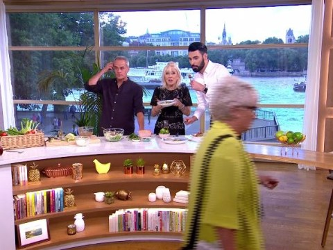 Rylan Clark-Neal in hysterics as This Morning is interrupted by woman walking across screen
