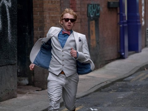 Rupert Grint admits running is like a stunt for him as he stars in Snatch TV series