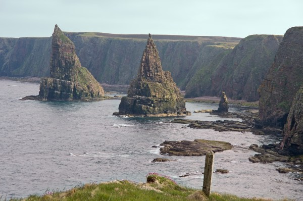 The Stacks of Duncansby in John O Groats in Scotland