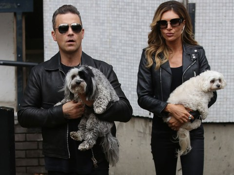 Robbie Williams was high on drugs and 'clucking like a chicken' when he first met wife Ayda Field
