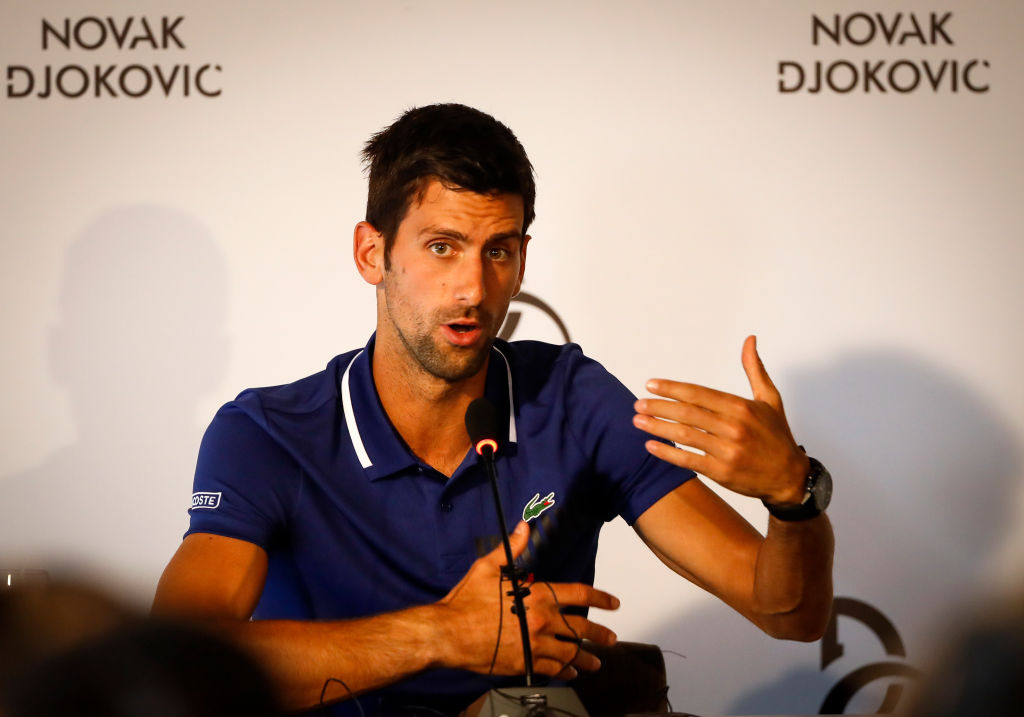 Novak Djokovic adds two staff members alongside Andre Agassi for 2018 & offers injury update