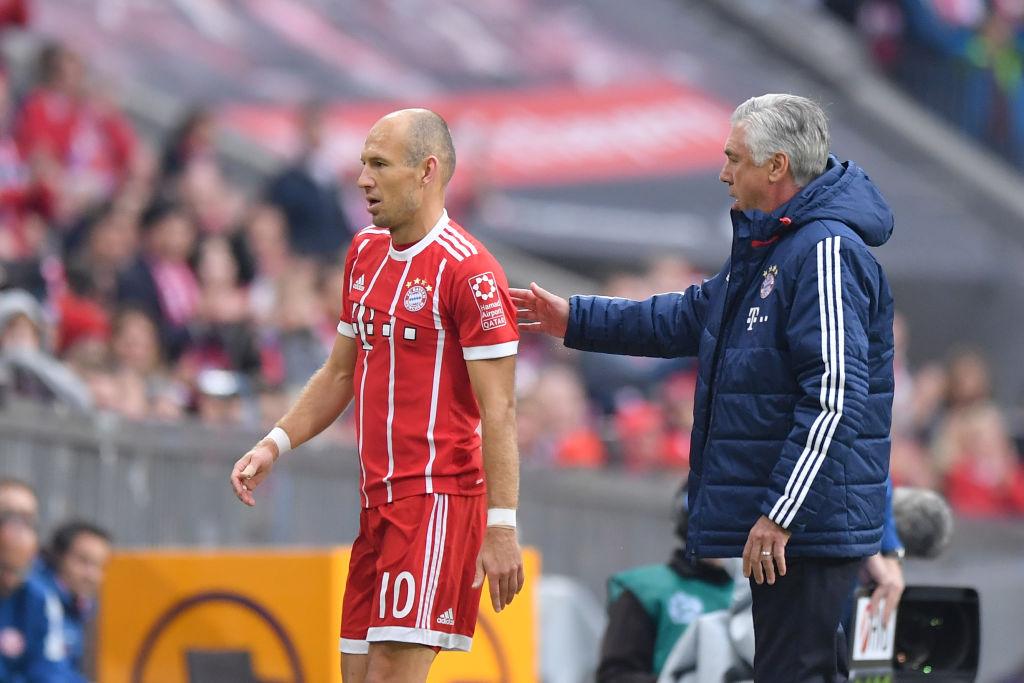 Arjen Robben refuses to back Carlo Ancelotti after PSG mauling