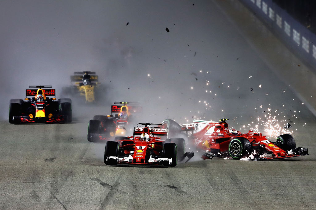 Lewis Hamilton gets his miracle after huge Ferrari collision in Singapore Grand Prix