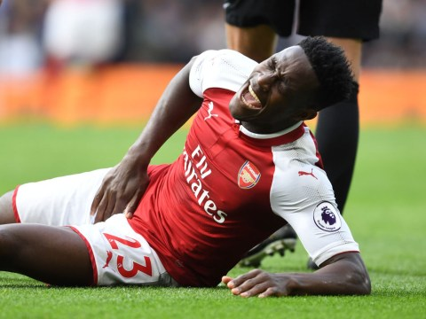 Arsenal fear striker Danny Welbeck could be sidelined for four weeks