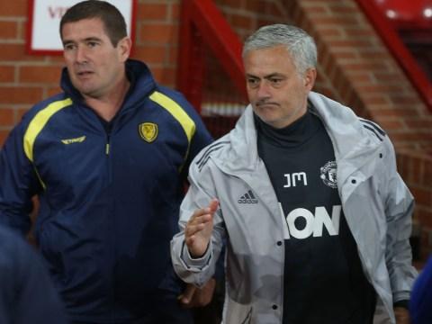 Manchester United loanee Timothy Fosu-Mensah watches Netflix during Burton Albion clash