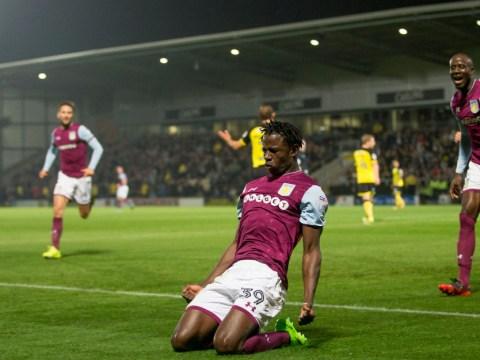 Arsenal and Manchester United scout Aston Villa striker Keinan Davis