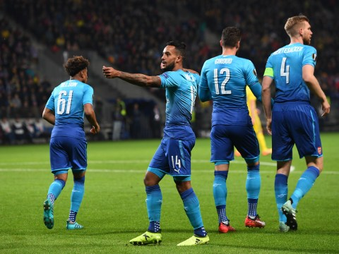 Theo Walcott shines and Olivier Giroud makes history in comfortable Arsenal win