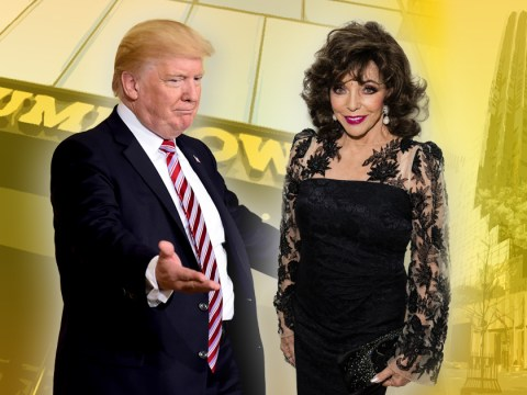 Joan Collins says President Trump asked her to move into Trump Tower