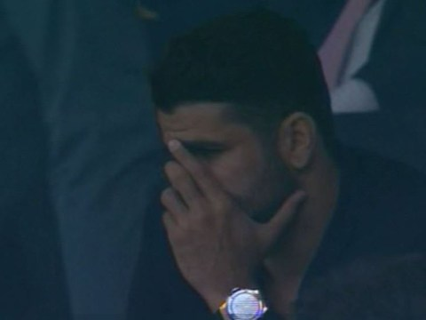 Diego Costa reaction to Chelsea's winning goal against Atletico Madrid is absolutely priceless