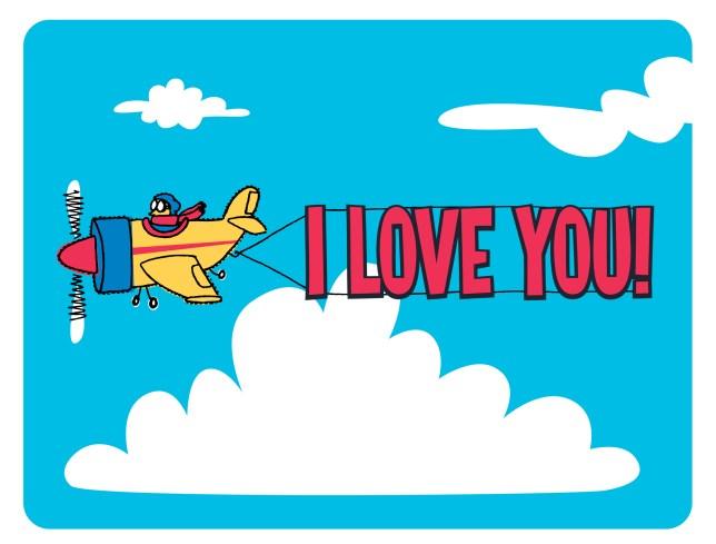 flying plane i love you