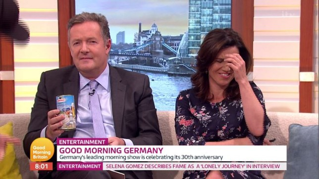 Piers Morgan's German equivalent tickles Susanna Reid with 'white