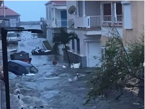 Hurricane Irma pictures show first scenes of devastation after hitting Caribbean