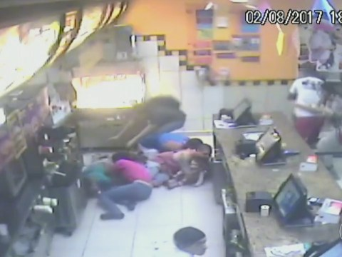 Gang attack McDonald's workers with machine guns after they're refused 40 burgers