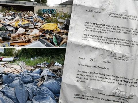 Huge illegal dump in Luton is dubbed a 'biohazard'