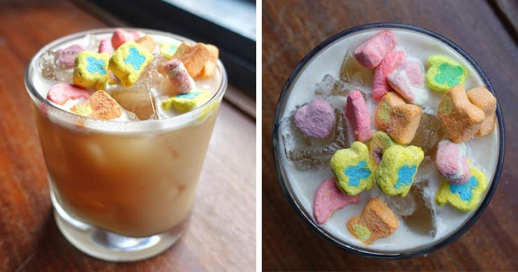 This bar makes a boozy cocktail featuring Lucky Charms