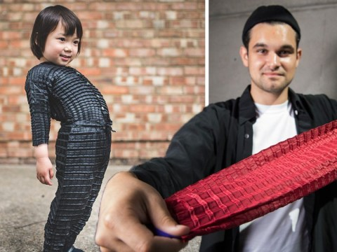 Man invents clothes that grow with your child so you don't need to keep spending money
